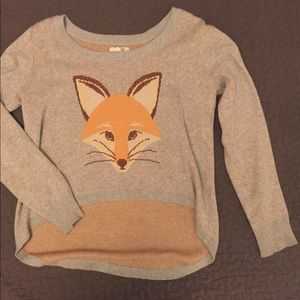 Hi-lo fox sweater 🦊